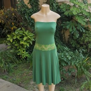 'Twenty One' Costume Green Strapless Dress (S)
